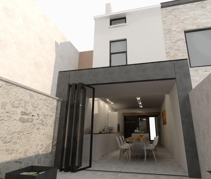 BRES architecten, RBS LSS, verbouwing, rijwoning, Gent, 2015