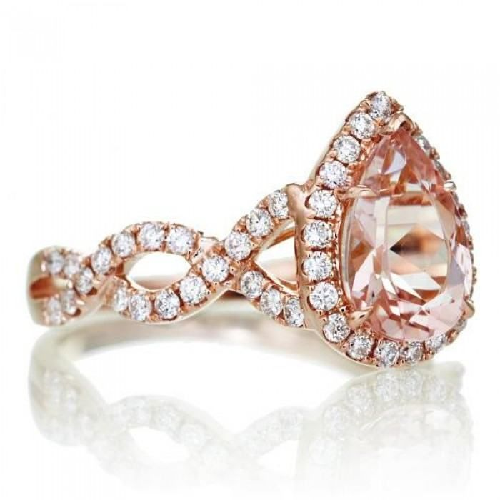 The Rosy Pear Morganite Belle Bells Morganite