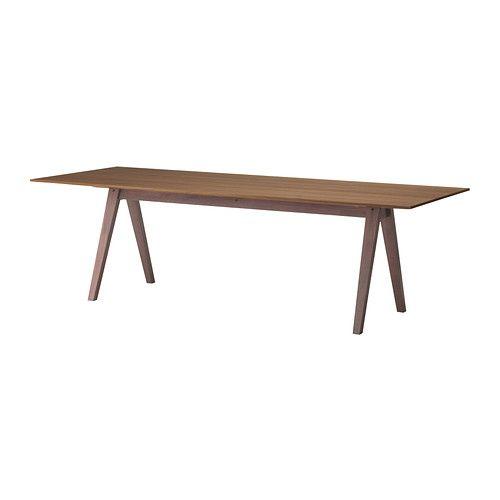 IKEA - STOCKHOLM, Table, Le plateau en noyer plaqué et les pieds en frêne massif ajoutent une touche naturelle et chaleureuse à la pièce.Le noyer est une matière naturellement résistante et la couche de verni constitue une protection supplémentaire qui le rend encore plus solide.Le motif naturel particulier du placage de noyer donne à chaque table son caractère unique.