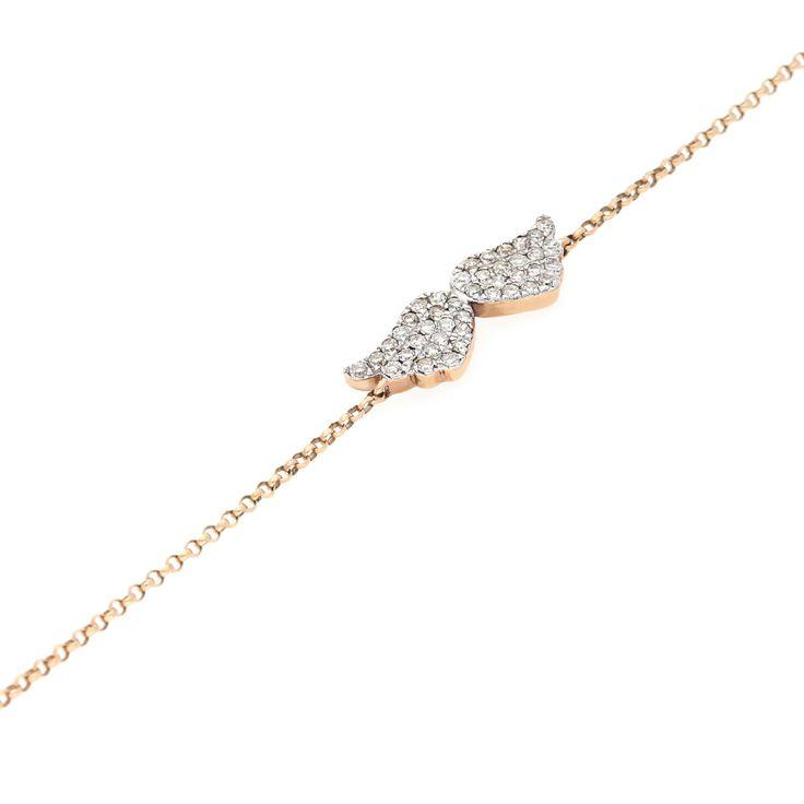 9K Rose Gold Diamond Bracelet For Sale by Uwe Koetter.    www.uwekoetter.com