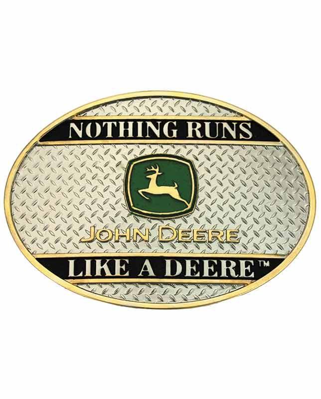 Montana Silversmiths Men's John Deere Belt Buckle - Buckles - Accessories