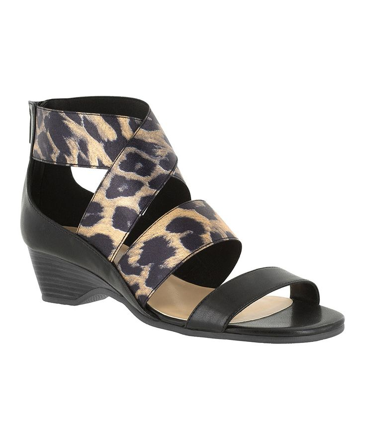 Take a look at this Black Leopard Leather Paloma II Sandal today!
