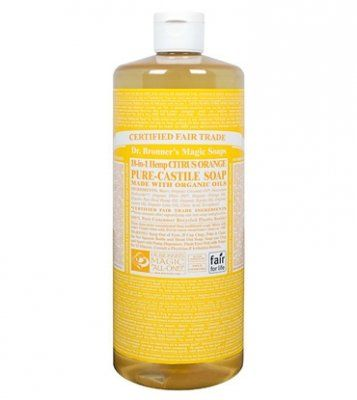 Dr. Bronner's Fair Trade & Organic Castile Liquid Soap - (Citrus Orange, 32 oz) Dr. Bronner's http://www.amazon.com