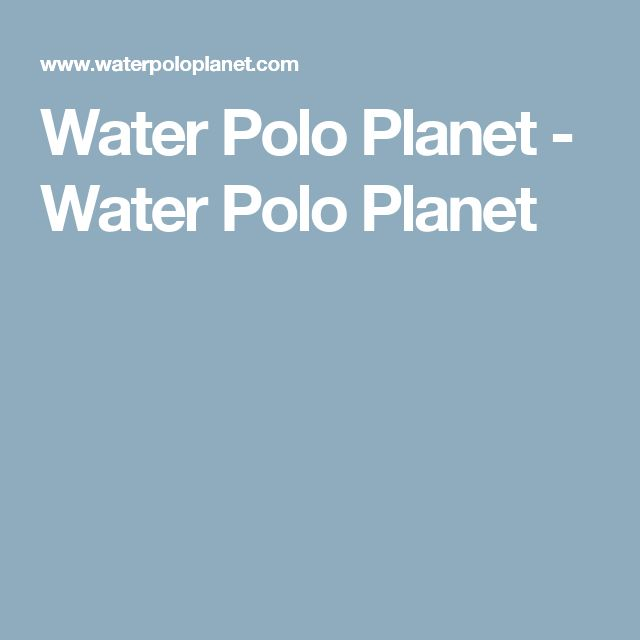 Water Polo Planet - Water Polo Planet