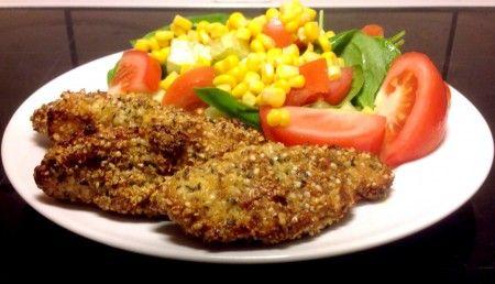 Ovnbagt kylling paneret med hampfrø. Denne opskrift er #glutenfri, hvedefri, mælkefri, #laktosefri, #sojafri og uden peanuts