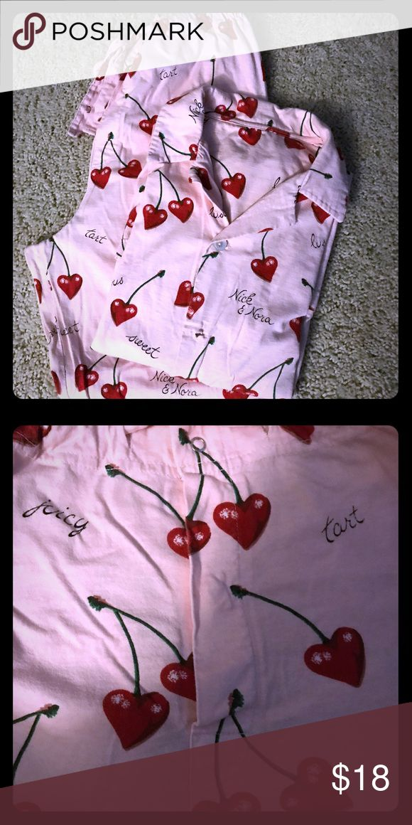 Nick and Nora pajamas set. In great condition, missing one button. Nick & Nora Intimates & Sleepwear Shapewear