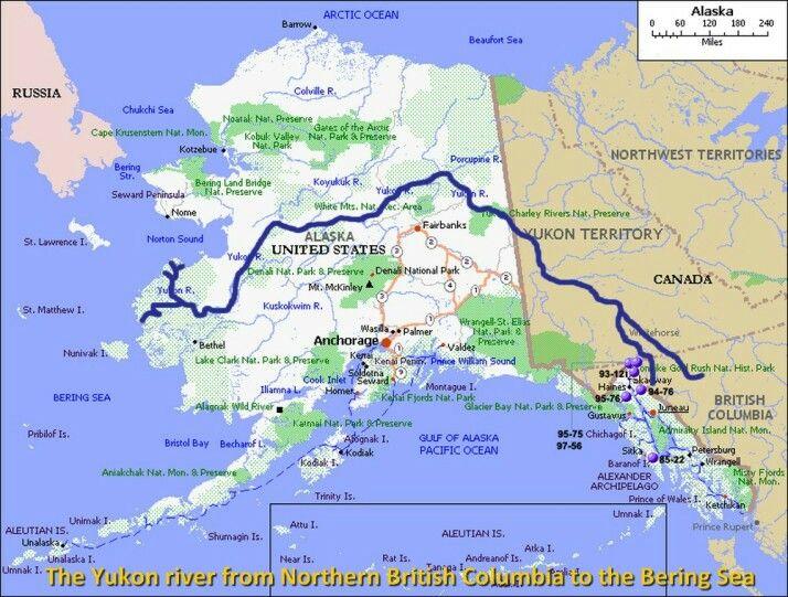 The Yukon | Alaska in 2019 | Alaska, Barrow alaska, Map