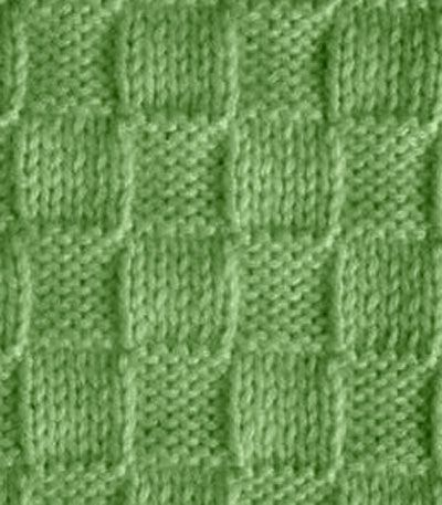 Diagram only, looks like knit and purl for this basketweave effect.