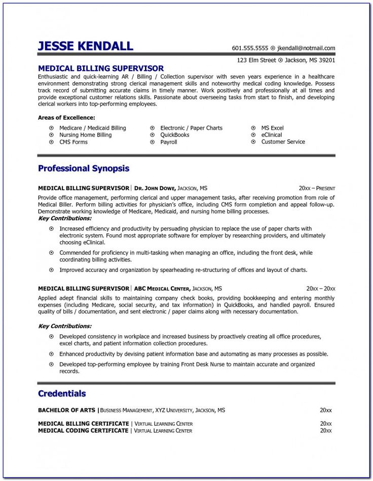 Resume Templates Medical 2021 Medical coder resume