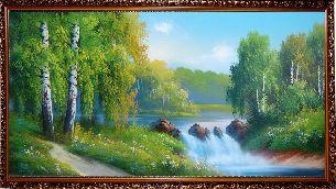 Лесной водопад - Водопады <- Картины маслом <- Интерьер <- VIP - Каталог | Универсальный интернет-магазин подарков и сувениров