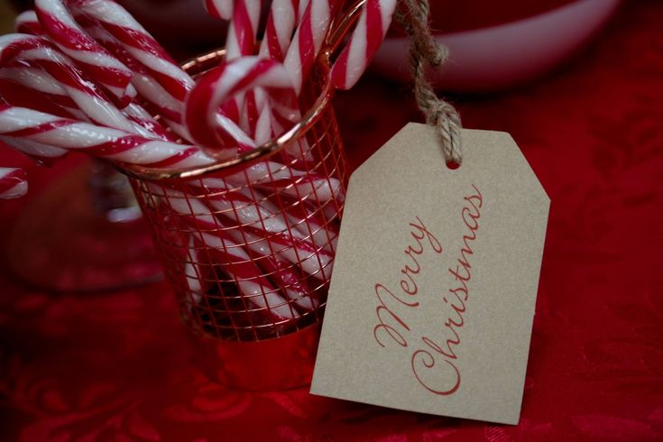 fabulous and festive candy canes in my red gingham christmas