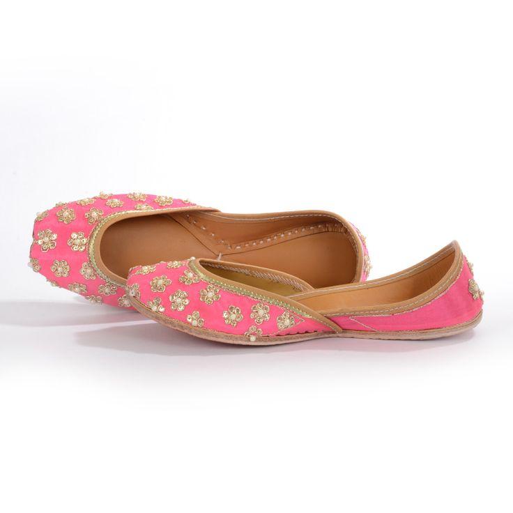 Pink Pearls | Designer Juttis NeedleDust India