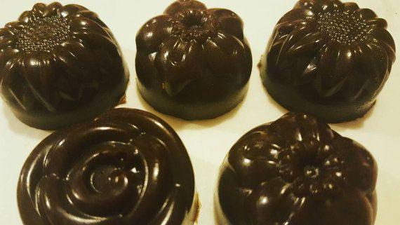 Chocolate Sugar Soap Scrub Petites by AbundantlyYouNatural on Etsy