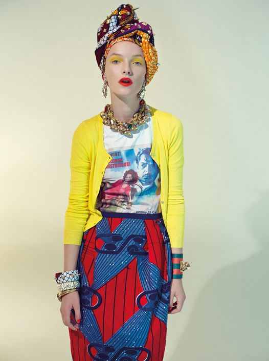 Why does this make me want to trawl through my Vivienne Westwood pile of skirts? Stella Jean -again. But the styling - classic Westwood in my opinion.