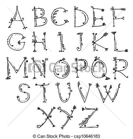 Alphabet – bullet journal