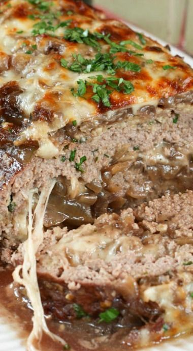 French Onion Soup Au Gratin Stuffed Meatloaf