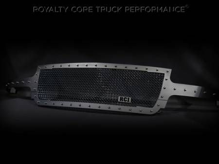 Royalty Core - Chevrolet 2500/3500 1999-2002 Full Grille Replacement RC1 Satin Black Grille