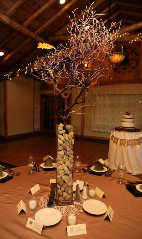 show us your wedding day pictures tall vase centerpieceshalloween - Halloween Centerpieces Wedding