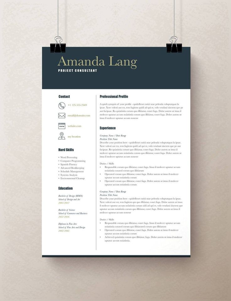 Modern Resumes Templates in 2020 Modern resume template