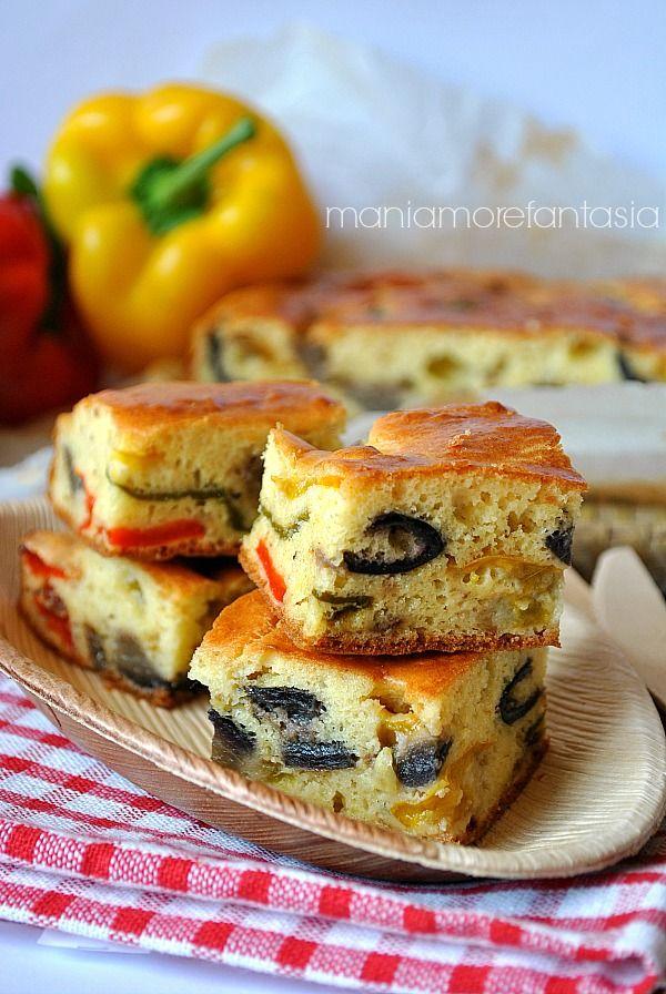 Torta salata soffice con peperoni e melanzane, ricetta vegetariana