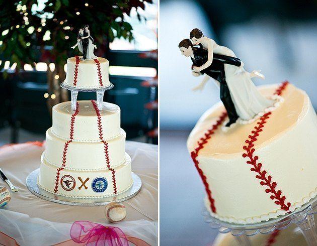 Baseball Themed Wedding | baseball theme wedding gown | Rural Bride » Small Towns. Big Weddings
