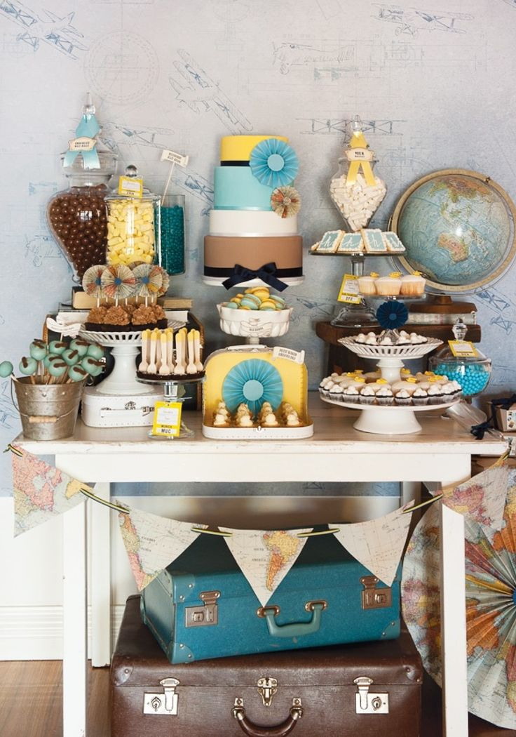 bringing together s wonderful teal and yellow party theme, with a touch of vintage and a bit of fun
