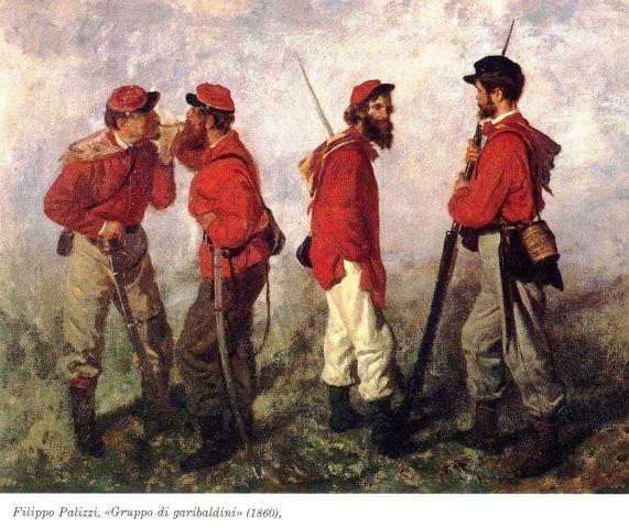 Filippo Palizzi, Un gruppo di garibaldini, 1860