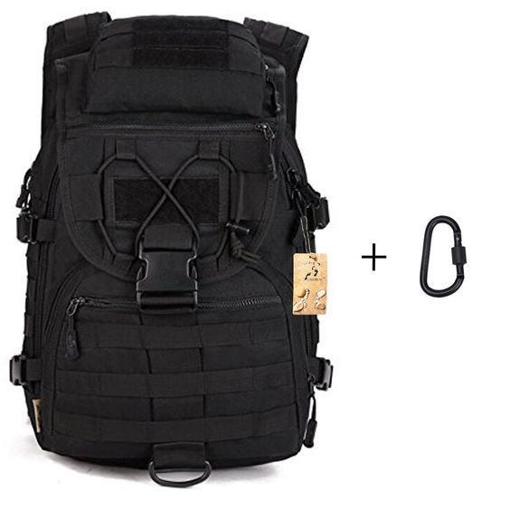 40L Tactical Outdoor Sport Military Backpack Gear Assault Molle Bag Large Rucksacks with Carabiner for Hiking Camping Climbing Trekking -- New and awesome outdoor gear awaits you, Read it now  : Hiking backpack