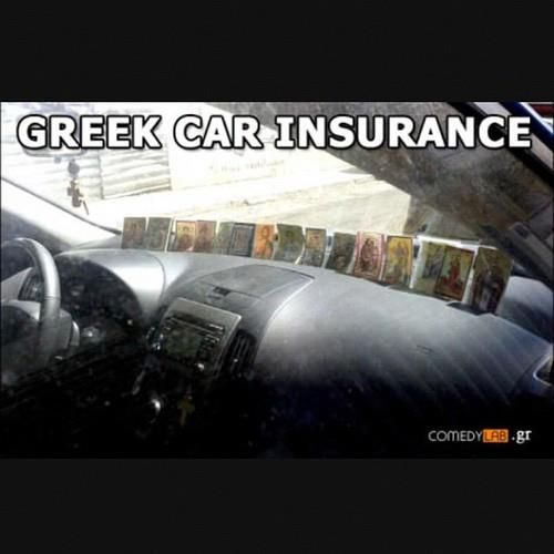 Greek Car Insurance  ...even though mines just one icon in my wallet.