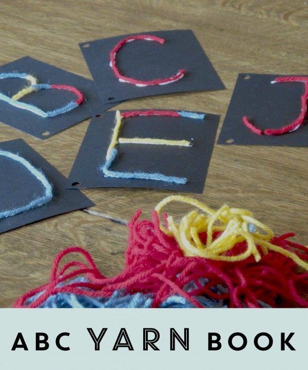 ABC Yarn Book: Fine motor fun for little letter learners. Home Literacy Blueprint