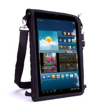 "USA Gear T10 Sacoche Bandoulière Tablette Protection Ecran Tactile et Support Tablette Voiture avec Protection - Pour HTC Google Nexus 9 / Asus T100 Transformer Book / Microsoft Surface Pro 2 / Samsung Galaxy Tab 3 10.1 et 8"" / Apple iPad et plus de Tablettes 8 - 10 pouces"