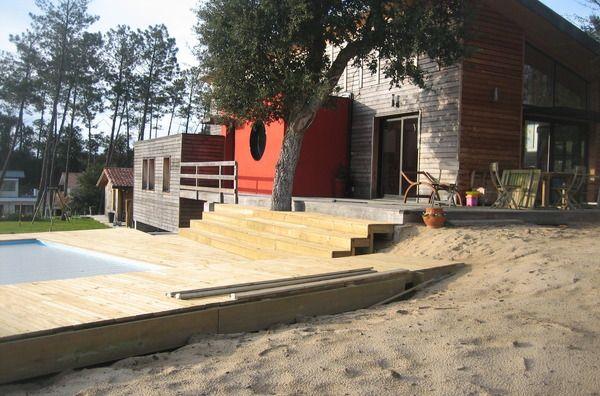 Maison bois architecte Sud landes , recherche PORTUGAL été 2014