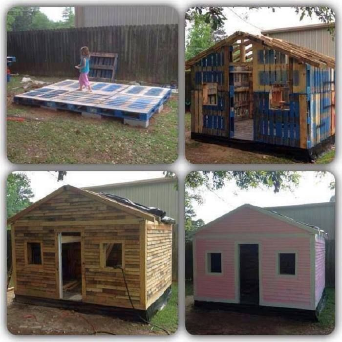 Now how's this for a cubby or garden shed? And it's made from recycled pallets! You'll find LOTS of ideas for repurposing pallets on our main site at http://theownerbuildernetwork.co/recycled-and-repurposed/pallets/