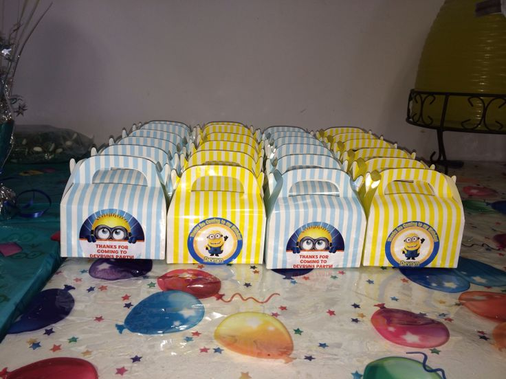 Minion candy boxes