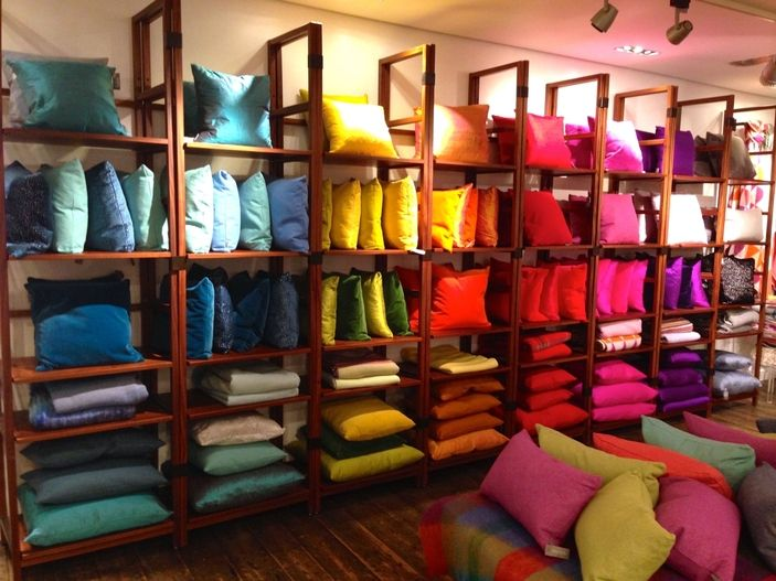 "HEAL'S,London,England,""Color Blocking the Cushions.....Perfect"",  photo by TWO Visual,pinned by Ton van der Veer"