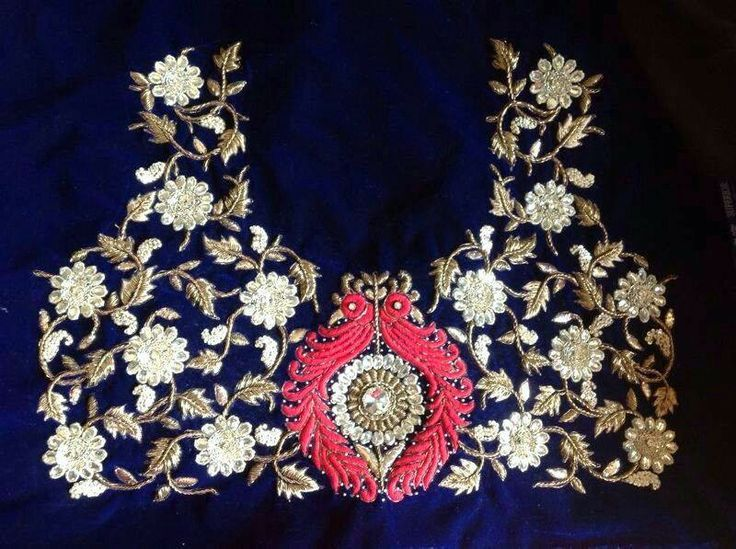 embroidered blouse piece