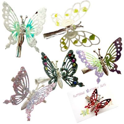 Butterfly hair clips! OMG... Totally rocked these. 90s kid