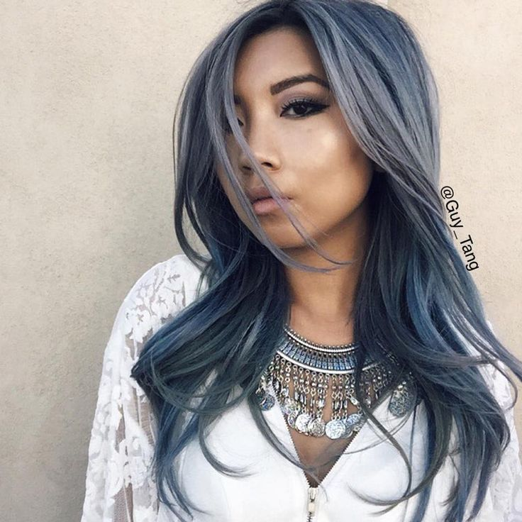 Stonewashed Denim Hair color by Guy Tang
