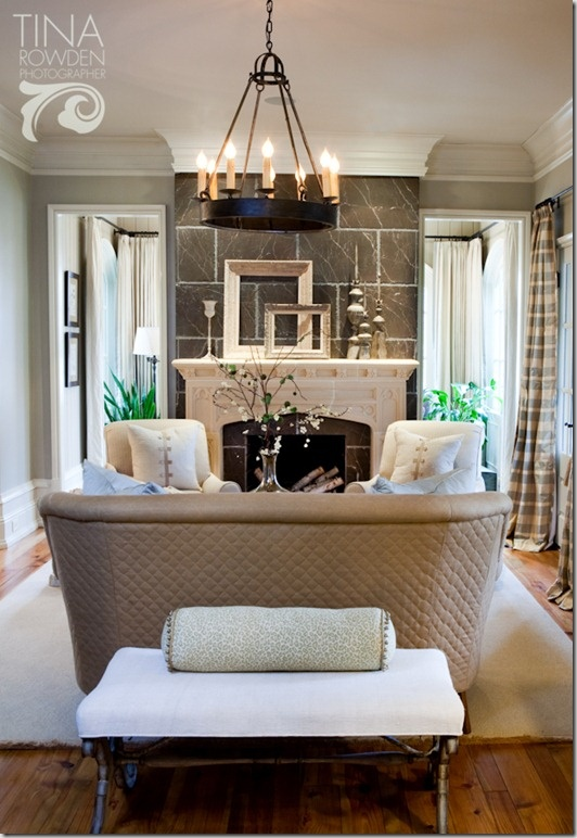 Traditional Living Room By Sherry Hart Loveseat Or Sette In Small Space