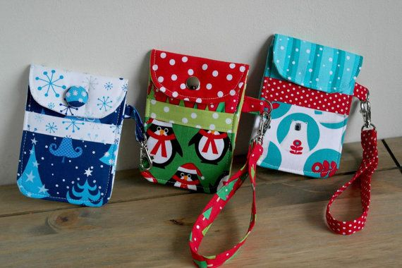 Seasonal Holiday Smart Phone Pouch Sewing Pattern from Susie D Designs at PatternPile.com