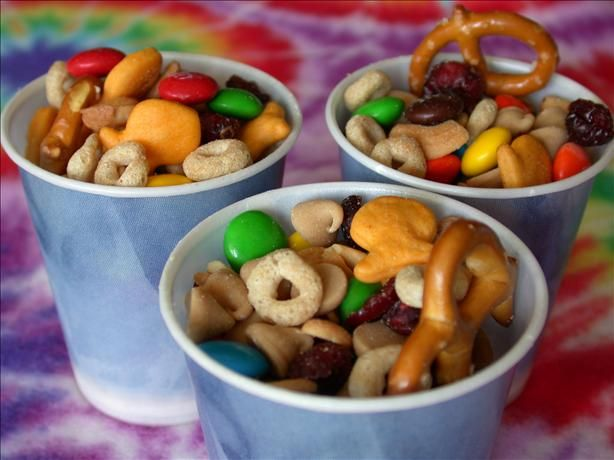 Birthday treat for school--bring in bags of each to school, and have kids make a trail mix.