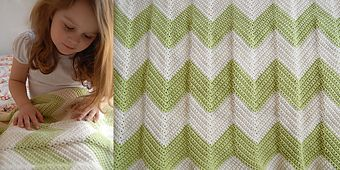 Ravelry: chevron blanket with a straight edge pattern by krista winters