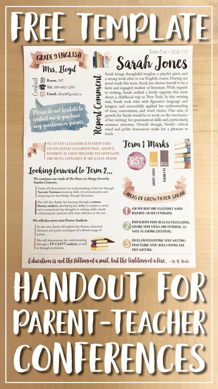 Read this blog post filled with tips and advice for parent-teacher conferences and grab this free template!