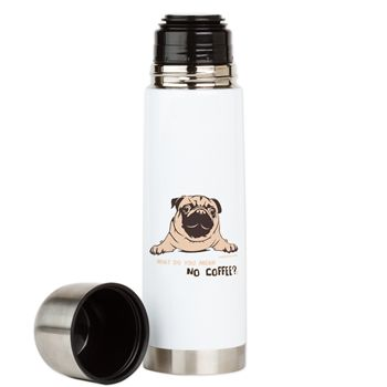 Pug Bevera Large Insulated Beverage Bottle By Pugdelicious http://www.cafepress.com.au/deliciouspugshop.1720273075