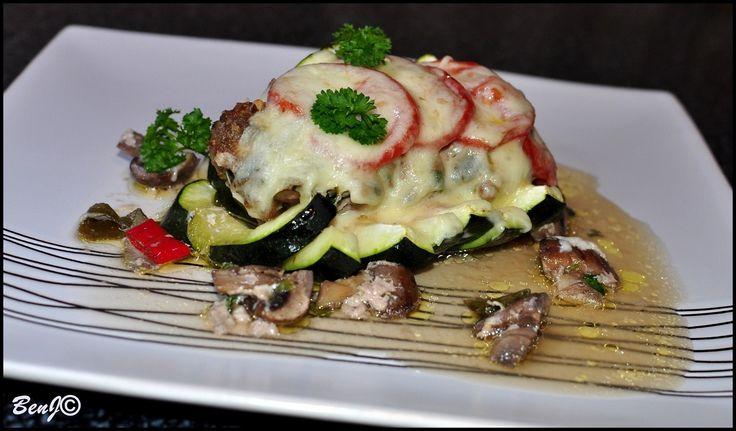 Stuffed zucchini...
