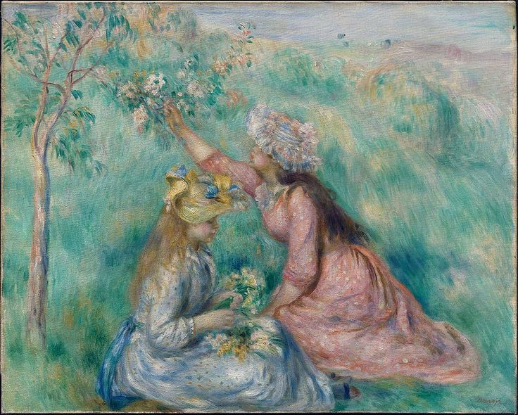 Congratulate, what Renoir girl with flowers sorry