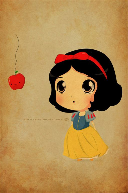cute animation drawings | apple, cartoon, cute, disney, draw - inspiring picture on Favim.com