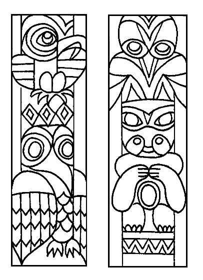 Totem Pole great for luau, Native American, or camping week decorations