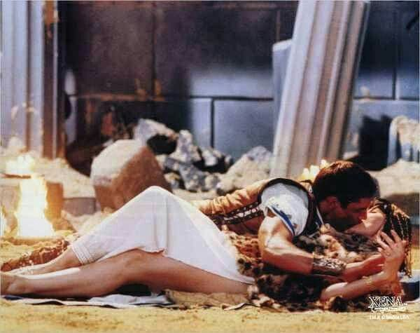 """Robert Tapert: This was the first episode that I felt everything was back on track. The baby was left behind with mom so we didn't have to deal with that… [So] this was an important episode coming back after Xena has been pregnant for ten or 12 episodes and [we had dealt] with that, to reestablish Xena's sexuality […]"""" 'Antony & Cleopatra' S05E18"""