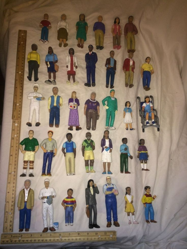Vintage Lot of 30+ Lakeshore Block Play Community Figure ...